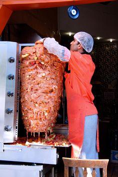 Istanbul, Turkey - donar kebab - lamb with sweetbreads mixed between layers!