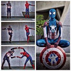 capitan america y spiderman - Buscar con Google