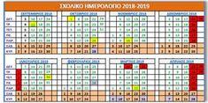 Σχολικό Ημερολόγιο Periodic Table, Education, School, Periodic Table Chart, Schools, Learning, Teaching, Studying