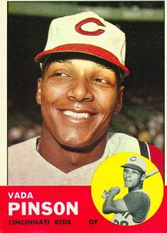 1963 Topps Vada Pinson 265 Baseball Card for sale online Baseball Classic, Reds Baseball, Baseball Players, Baseball Stuff, Baseball Card Values, Baseball Cards For Sale, Cincinnati Reds, Cleveland Indians, Mlb Uniforms