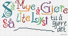 Geriljabroderi Cross Stitch Embroidery, Ravelry, Needlework, Qoutes, Diy And Crafts, Great Gifts, Creativity, Knitting, Sewing