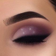 Purple Makeup Looks, Makeup Looks For Brown Eyes, Purple Eye Makeup, Makeup Eye Looks, Eye Makeup Art, Purple Smokey Eye, Eyebrow Makeup, Beauty Makeup, Eye Makeup Steps