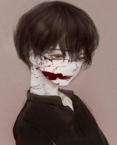 소년 Manga Boy, Manga Anime, Anime Art, Dark Anime, Arte Horror, Horror Art, Yandere Boy, Gore Aesthetic, Ero Guro