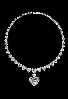 Graff diamond heart necklace