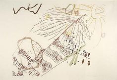 John Cage, color etching. Pionero de la música aleatoria, de la música electrónica y del uso no estándar de instrumentos musicales fue una de las figuras principales del avant garde de posguerra.