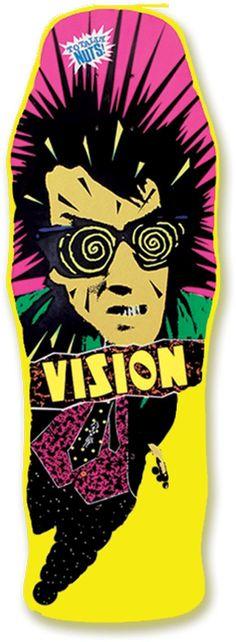 Vision Original Psycho Stick Reissue Skateboard Deck, Blue, 10 x Vision Skateboards, Old School Skateboards, Vintage Skateboards, Cool Skateboards, Skateboard Photos, Skateboard Design, Skateboard Decks, Skates, Skate And Destroy