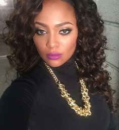 Purple Lipstick, Lipstick Colors, Cheap Full Lace Wigs, Meagan Good, Curly Lace Front Wigs, Beauty Supply, Brazilian Hair, Natural Hair Styles, Wave
