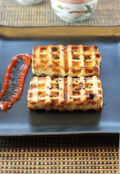 An unusual use for your waffle iron -- yes, cooking tofu!