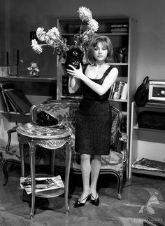 """Krystyna Sienkiewicz w obiektywie Jerzego Bielaka, """"Lekarstwo na miłość"""", 1966."""