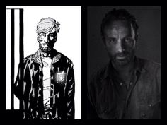 Rick Grimes of The Walking Dead comic and show.