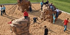 Natural Playground Climbers - Freestanding Nature-Inspired Climbing Elements - Landscape Structures