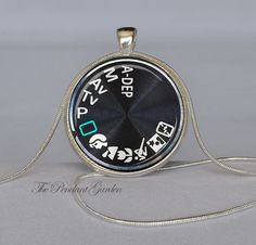 CAMERA PENDANT Black White Teal Camera Necklace Photography Pendant Photographer Jewelry Photographer Necklace Camera Jewelry Chain Included. $12.95, via Etsy.