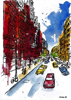 """West 23rd St./Hotel Chelsea - NYC""  (46x32,5 cm.) - © francesc palomas"