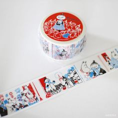 MOOMIN Book Series Washi Tape My and Umbrella Japanese by UGUiSU