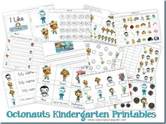Free Octonauts Printables...Kindergarten Pack {post also has link to Tot Pack}
