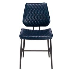 The retro looking Hawley Dining Chairs are available in dark blue as well as dark brown. Their patterned seat and backrest give the Hawley chairs a vintage diner feel.