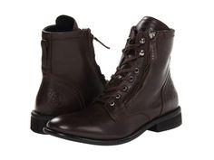 Diesel Pataboot 'The Pit' Boots, Size 8, Coffee Brown, Leather, MSRP $195 #DIESEL #Military