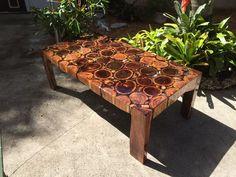 Custom Made Clear Epoxy Albizia & Tamarind Rounds konferenční stolek