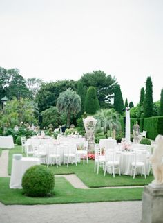 A classic affair held at Villa Ephrussi De Rothschild in the South of France. Pink peonies covered the reception tables which took place outdoors in the garden of the villa. Bali Wedding, Dream Wedding, Wedding Things, Summer Wedding, Wedding Stuff, Wedding Locations, Wedding Venues, Outdoor Dinner Parties, Outdoor Entertaining