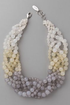 Lust List: Shake It Up With Beaded Jewelry  #refinery29  http://www.refinery29.com/lust-list-shake-it-up-with-beaded-jewelry#slide-6  Adia Kibur Beaded Twist Necklace, $88, available at Shopbop.