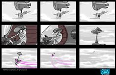 despicable me storyboard