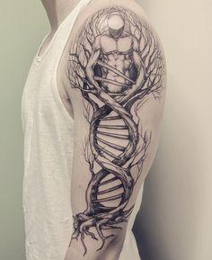 DNA tree designed by Lotta Randén at Bläckbyrån (Vårgårda, Sweden) : tattoos