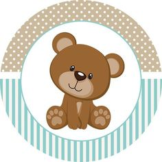 Teddy Bear for Boys: Free Printable Mini Kit. - Oh My Baby! Dibujos Baby Shower, Baby Shower Oso, Teddy Bear Baby Shower, Baby Shower Cupcakes, Baby Boy Scrapbook, Imprimibles Gratis Baby Shower, Bear Theme, Baby Shawer, Bear Party