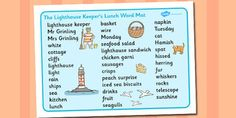 Story Resources - Popular Children's Stories - EYFS - Year 1 to 6 - Page 30 Story Sack, Story Story, Lighthouse Keepers Lunch, Talk 4 Writing, Story Sequencing, Best Children Books, Primary Resources, English Reading, Eyfs