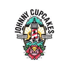 by Corey Reifinger Johnny Cupcakes, Learning Logo, Web Design, Logo Design, Cartoon Logo, Isometric Design, Love Logo, Brand Packaging, Editorial Design