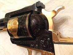 Ruger Super Blackhawk 44 mag engraved gold plated