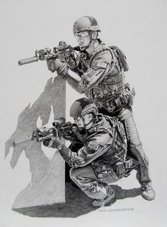 Coast Guard by Dick Kramer Army Drawing, Soldier Drawing, Pencil Sketch Drawing, Pencil Drawings, Drawing Ideas, Military Art, Military History, Military Soldier, Dark Art Drawings
