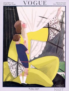 ⍌ Vintage Vogue ⍌ art and illustration for vogue magazine covers - WILLIAM BOLIN 1922
