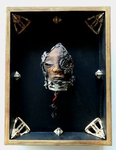 Cyber head reliquary by Marek Mudra Cyber, Contemporary