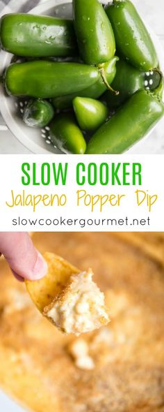 Slow Cooker Jalapeño Dip is a simple way to make your favorite appetizer without all the fuss. Delicious peppers, sweet jam and cream cheese perfect for dipping your favorite chip.