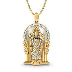 Religious Pendants - Buy Religious Pendant Designs Online in India 2020 Mens Gold Bracelets, Mens Gold Jewelry, Gold Jewellery, Gold Pendants For Men, Gold Pendent, Gold Chains For Men, Golden Jewelry, Gold Locket, Temple Jewellery