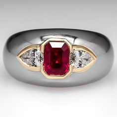 Bvlgari Ruby & Diamond Ring