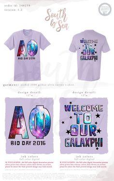 Alpha Phi | A Phi | Welcome to our Galaxphi | Galaxy Design | Sisterhood | Bid Day | Recruitment | Space Theme | Alien Theme | South by Sea | Greek Tee Shirts | Greek Tank Tops | Custom Apparel Design | Custom Greek Apparel | Sorority Tee Shirts | Sorority Tanks | Sorority Shirt Designs