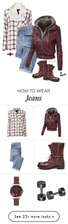 """""""Ready Set Go"""" by merlothues on Polyvore featuring Rails, Wrap, Steve Madden, UGG Australia, Olivia Burton, plaid, uggs and combatboots"""