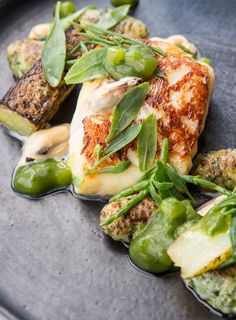 Lemongrass-smoked cod, mussels, sea vegetables, cucumber ketchup by Paul Welburn
