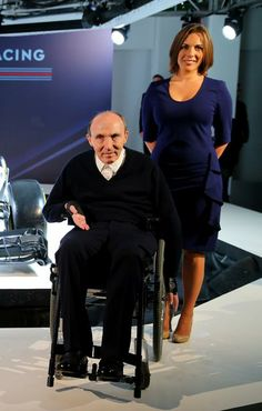 Sir Frank, and Claire Williams pose with the 2014 Williams Formula One Martini Racing Livery