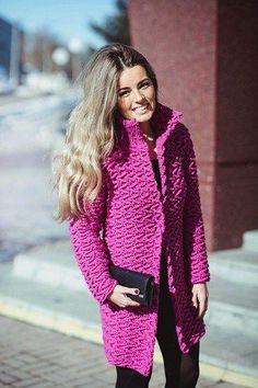 Crochet Patterns to Try: Free Crochet Patterns For 3 Winter Coats - Easy Crochet Winter Coat Ideeas ༺✿ƬⱤღ✿༻