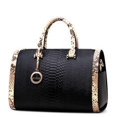 ZOOLER sacos bolsas mulheres famosas marcas sacos de ombro mensageiro genuíno bolsas de couro saco de travesseiro Boston Serpentine grain