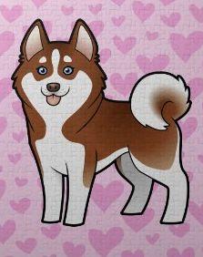 A cartoon of my husky pup!