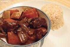 Boeuf Bourguignon Julia Child style mit Reis Boeuf Bourguignon Julia Child style served with rice