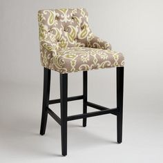 Ikat Lydia Barstool-For Kitchen Peninsula Seating- I like that it has a back for Lily to sit easily- World Market