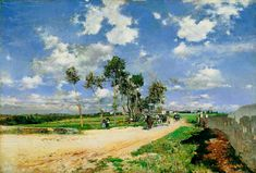 The Great Road in the Villas Combes - Giovanni Boldini