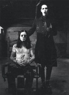 Ozzy Osborne & Marilyn Manson - This is an awesome picture! I've always been fascinated with Marilyn Manson and his songs, Joey's not a fan lol