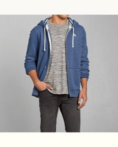 Abercrombie and Fitch men's full zip hoodie