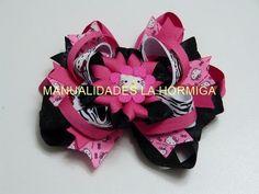 DIY Moño- lazo boutique y flores en cinta o listón para el cabello de las Niñas - YouTube