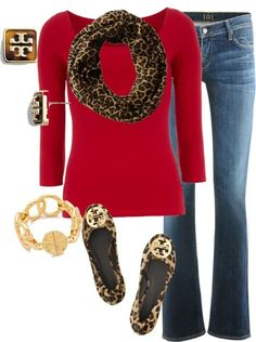 Red and Cheetah print...what's not to love!